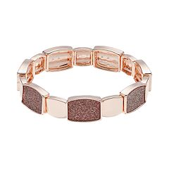 Geometric Glitter Stretch Bracelet