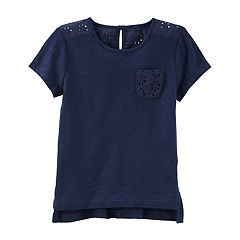 Toddler Girl OshKosh B'gosh® Eyelet Pocket Top
