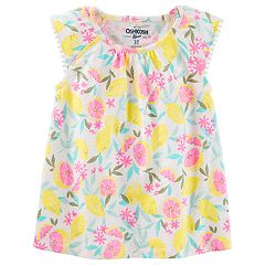 Toddler Girl OshKosh B'gosh® Flutter Sleeve Floral Top