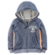 "Boys 4-8 Carter's ""Athletic Dept."" Marled Zip Hoodie"