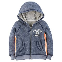 Boys 4-8 Carter's 'Athletic Dept.' Marled Zip Hoodie
