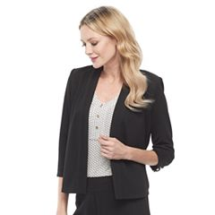 Women's Dana Buchman Travel Anywhere Jacquard Open-Front Jacket