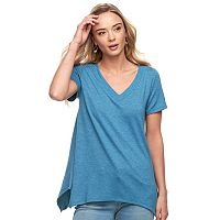 Women's SONOMA Goods for Life™ Soft Touch Shark-Bite Hem Tee