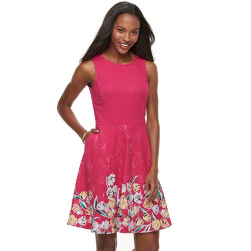 Apt. 9® Jacquard Fit & Flare Dress