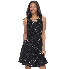 Women's Apt. 9® Jacquard Fit & Flare Dress