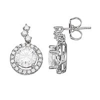 Forever Brilliant 14k White Gold 2 9/10 Carat T.W. Lab-Created Moissanite Drop Earrings