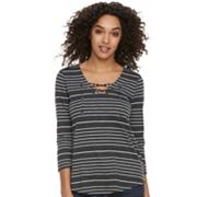 Women's SONOMA Goods for Life™ Lace-Up Tee