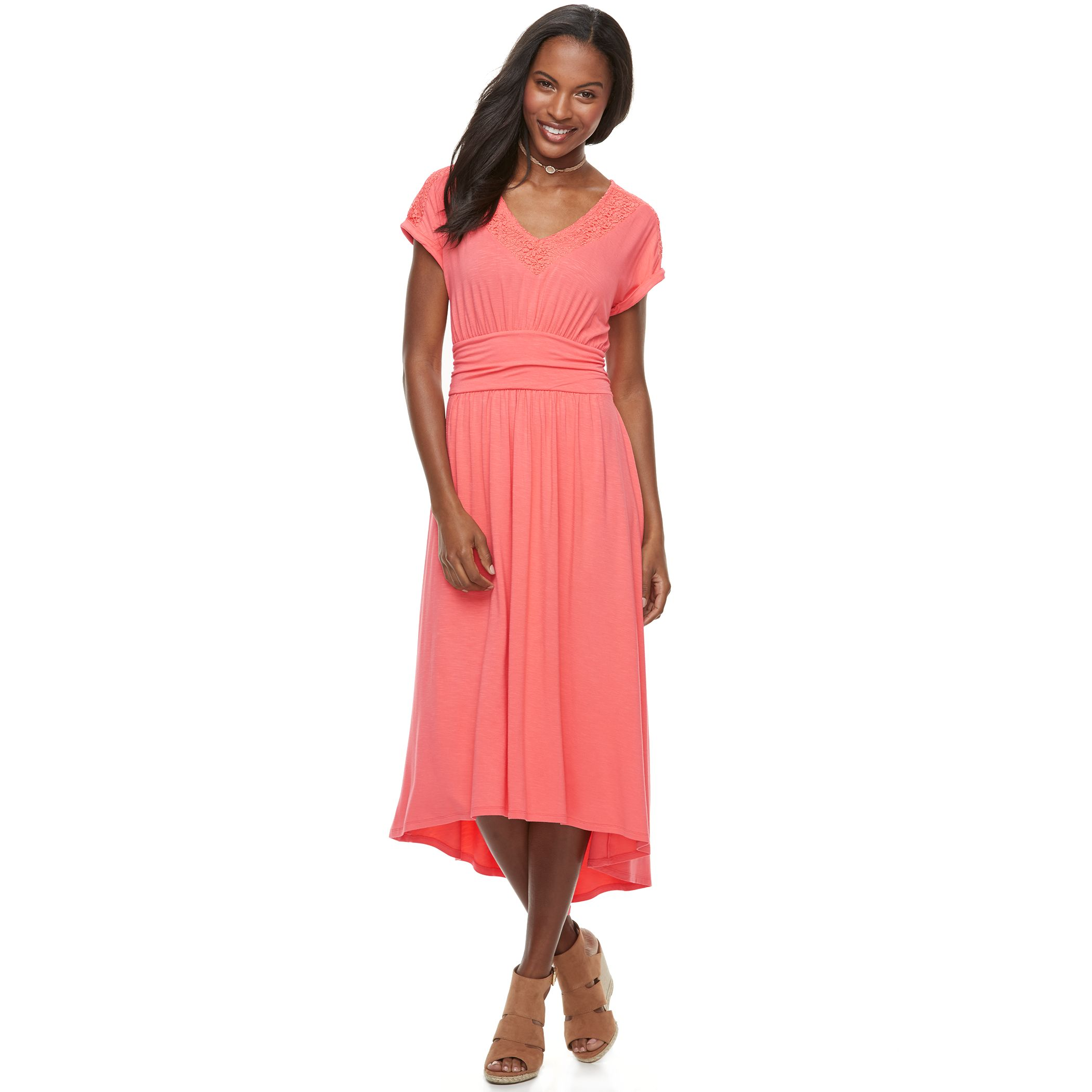 Simply be petal trim maxi dress