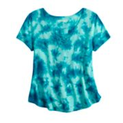 Girls 7-16 Mudd® Tie-Dye Swing Lace-Up Top