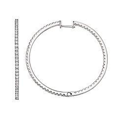 Forever Classic 2 Carat T.W. Lab-Created Moissanite Hoop Earrings
