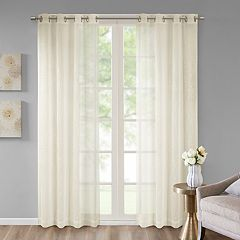 Madison Park 1-Panel Ethel Embroidered Sheer Window Curtain