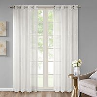 Madison Park Ethel Embroidered Sheer Window Curtain