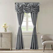 Madison Park Giselle Faux Silk 5 pc Window Curtain & Valance Set