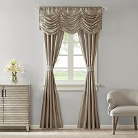 Madison Park Giselle Faux Silk 5 pc Window Curtain & Valance Set