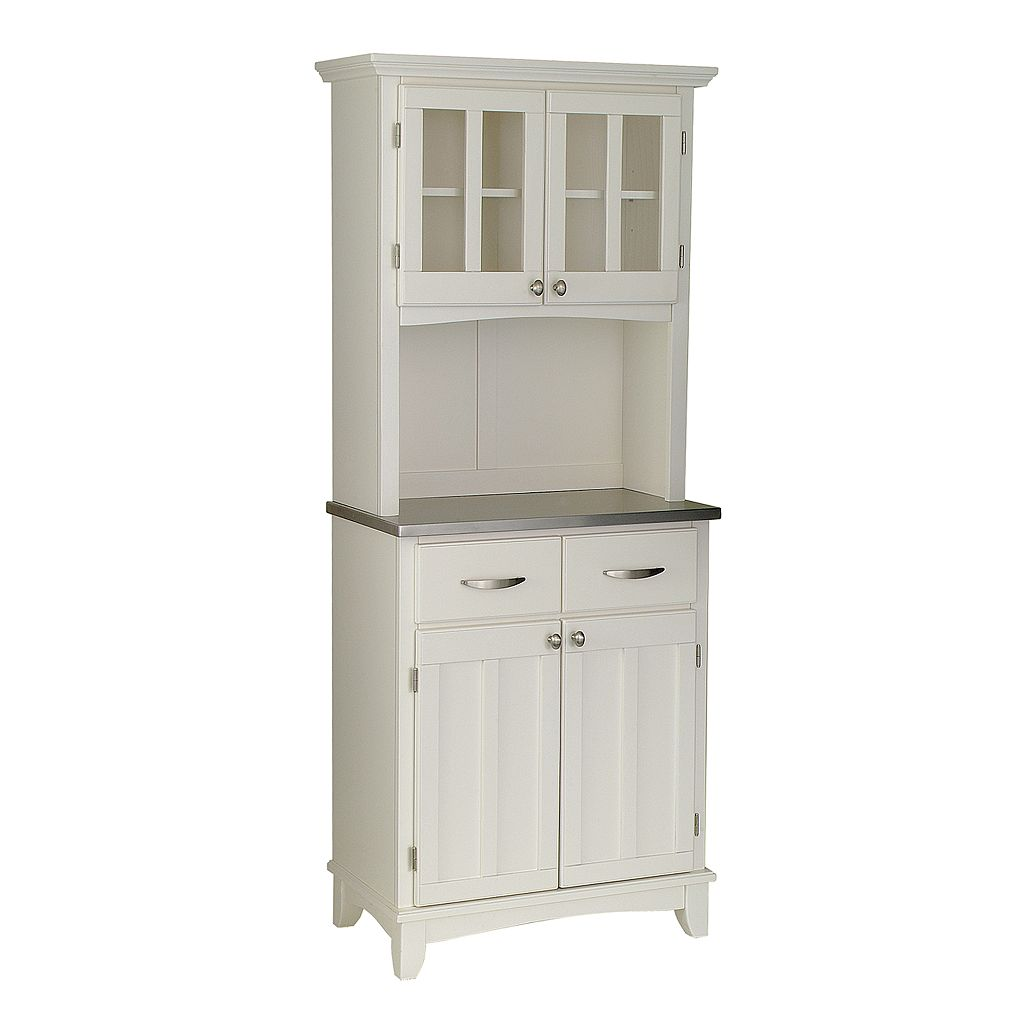 Small Hutch Buffet - Stainless Steel Top