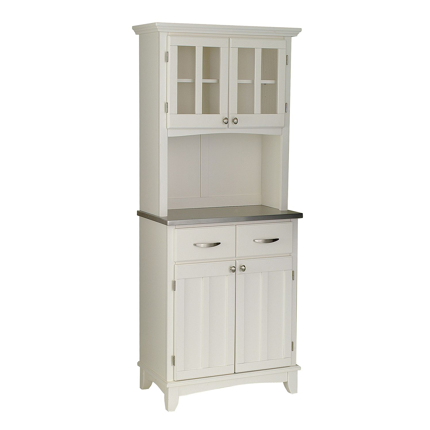 Small Hutch Buffet   Stainless Steel Top