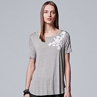 Women's Simply Vera Vera Wang Floral Applique Tee