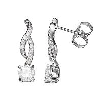 Forever Classic 7/8 Carat T.W. Lab-Created Moissanite Infinity Drop Earrings