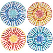 Certified International San Marino 4 pc Canape Plate Set