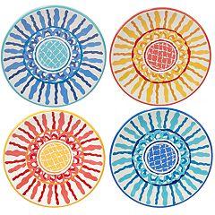 Certified International San Marino 4 pc Canape Plate Set