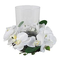 SONOMA Goods for Life™ Artificial Orchid Hurricane Candle Holder