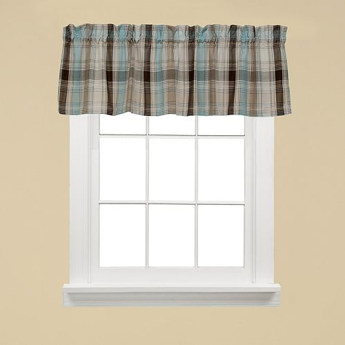 Saturday Knight, Ltd. Cooper Plaid Window Valance - 58'' x 13''