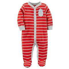 Baby Boy Carter's Robot Striped Sleep & Play