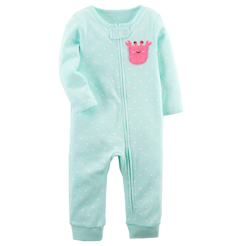 Baby Girl Carter\u0027s Crab Polka-Dot Footless One-Piece Pajamas Pajamas, Footed   Kohl\u0027s