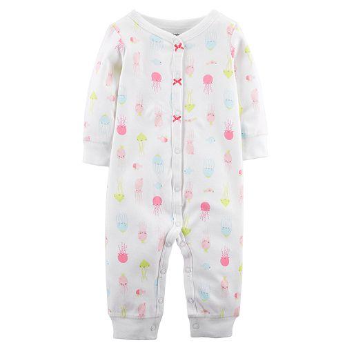 d8abba868650 Baby Girl Carter s Jellyfish Footless One-Piece Pajamas