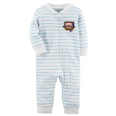Baby Boy Carter's Monkey Striped One-Piece Footless Pajamas