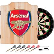 Arsenal FC Wood Dart Cabinet Set