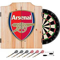 Arsenal FC Wood Dart Cabinet Set