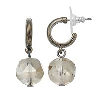 Simply Vera Vera Wang Beaded Nickel Free Hoop Drop Earring