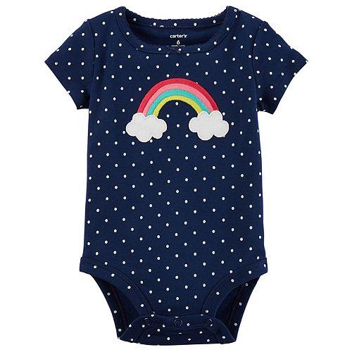 Baby Girl Carter's Rainbow Polka Dot Bodysuit