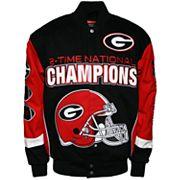 Men's Franchise Club Georgia Bulldogs Commemorative Twill Jacket