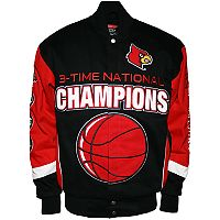 Men's Franchise Club Louisville Cardinals Commemorative Twill Jacket