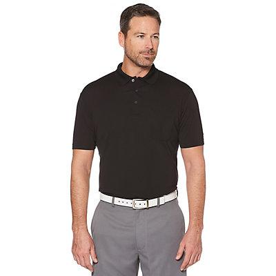 Big & Tall Grand Slam Driflow Regular-Fit Mini-Ottoman Textured Pocketed Performance Golf Polo
