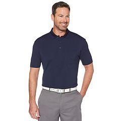 Big & Tall Grand Slam Driflow Regular-Fit Mini-Ottoman Textured Performance Golf Polo