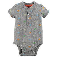 Baby Boy Carter's Dinosaur Henley Bodysuit