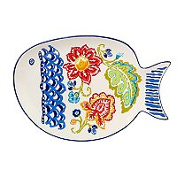Certified International San Marino 3D Fish Platter