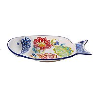 Certified International San Marino 3D Fish Chip & Dip Platter