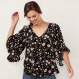 Women's LC Lauren Conrad Print Bell Sleeve Top
