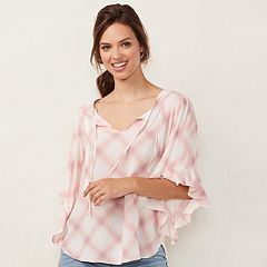 Women's LC Lauren Conrad Print Bell Sleeve Top