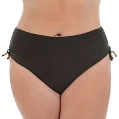 Plus Size Cyn and Luca Side-Tie Hipster Bikini Bottoms