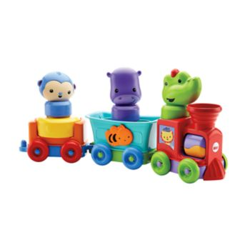 Fisher-Price Silly Safari Rattle & Roll Animal Train