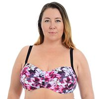 Plus Size Cyn and Luca Floral Underwire Bikini Top