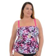 Plus Size Cyn and Luca Waikiki Floral Tankini Top