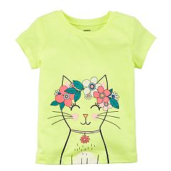 Toddler Girl Carter's Flower Crown Cat Graphic Tee