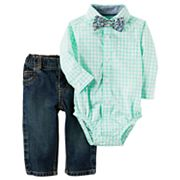 Baby Boy Carter's Bodysuit with Bowtie & Jeans Set