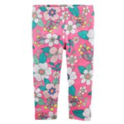 Toddler Girl Carter's Bright Floral Pattern Leggings